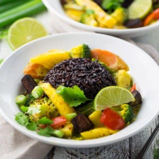 Mango Curry with Black Rice