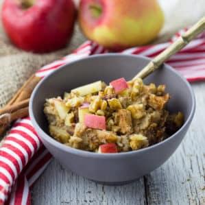Crock Pot Oatmeal with Apple and Cinnamon