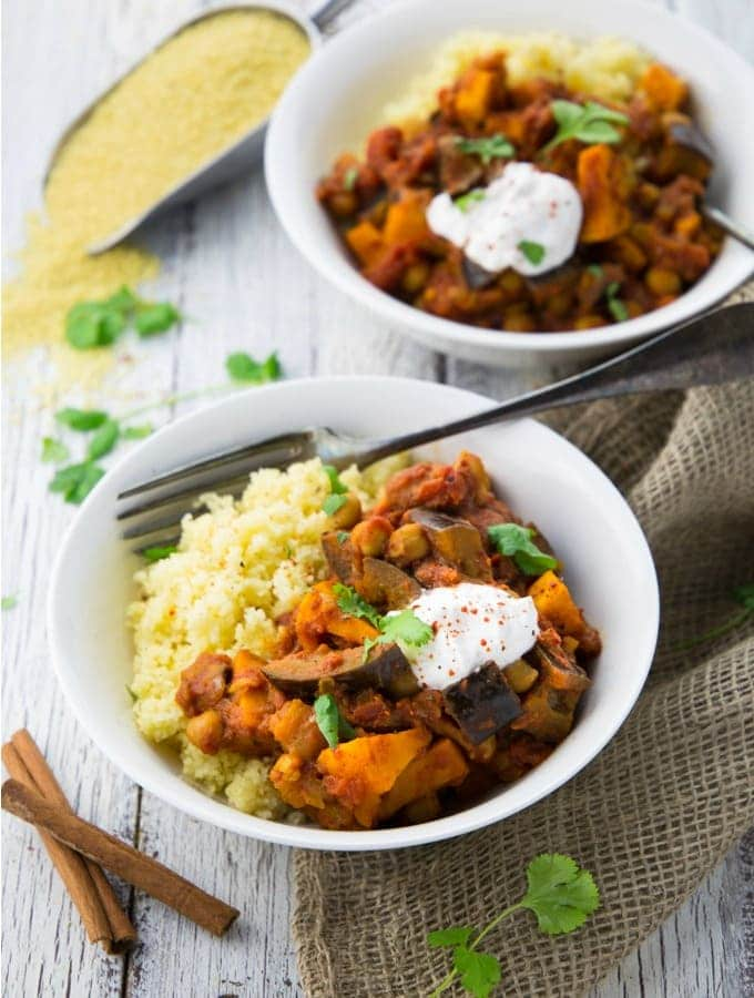 Moroccan Chickpea & Sweet Potato Stew - Vegan Heaven