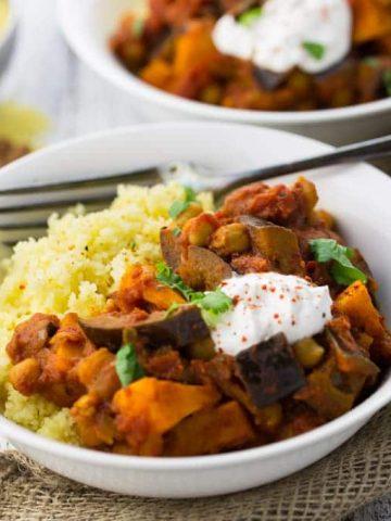 Moroccan Chickpea & Sweet Potato Stew