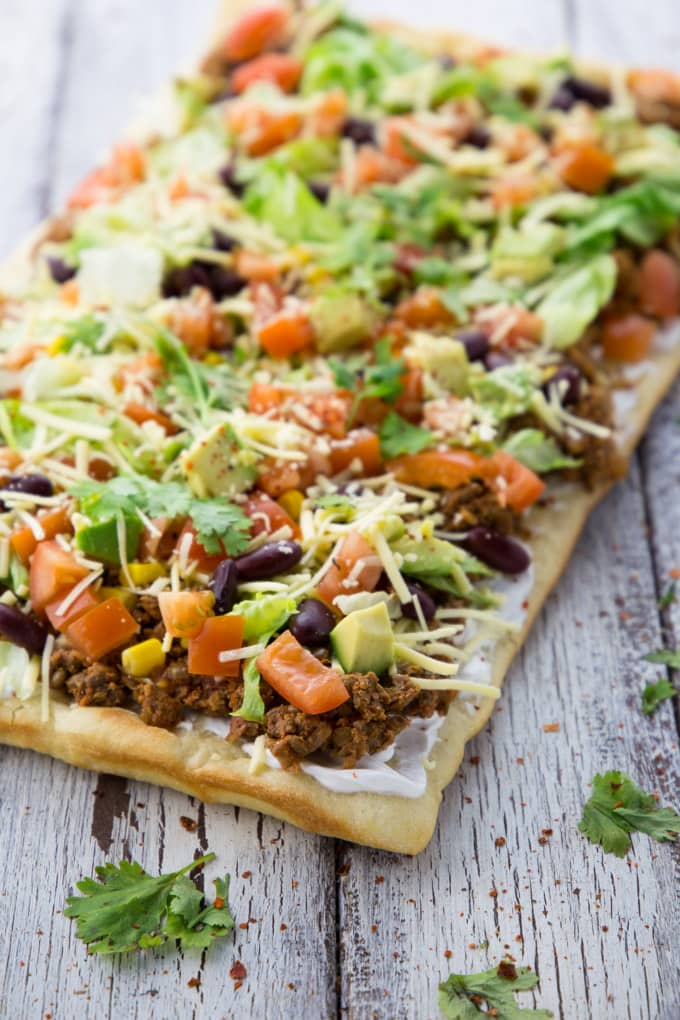 Taco Pizza (Vegan & Super Easy)