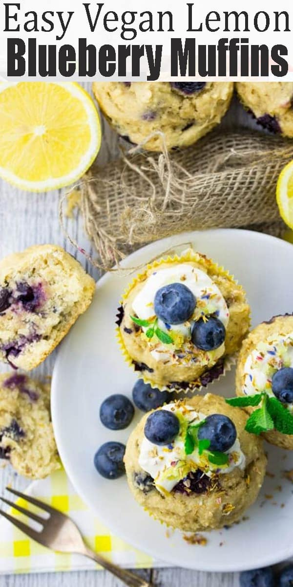 If you're looking for delicious vegan muffins, you will LOVE these vegan lemon blueberry muffins! They're super moist - vegan baking can be so easy! Find more vegan recipes and vegan desserts at veganheaven.org! #vegan #veganmuffins #veganbaking