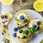 Eggless Blueberry Muffins - vegan and super easy!