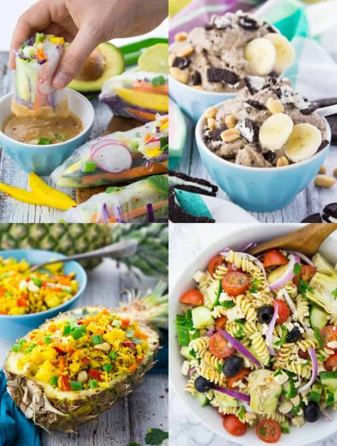 A Collage of Vegan Summer Recipes