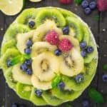 No Bake Kiwi Cheesecake (Vegan)
