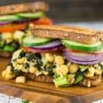 Vegan Tuna Sandwich with Chickpeas