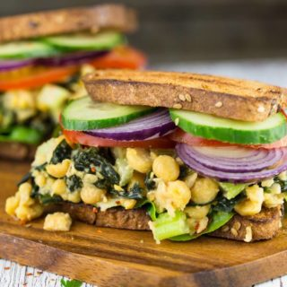 Vegan Tuna Sandwich with Chickpeas