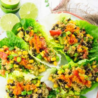 Vegetarian Lettuce Wraps with Quinoa