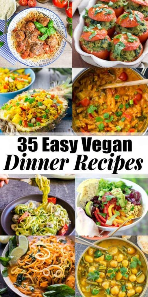 35 Vegan Dinner Recipes