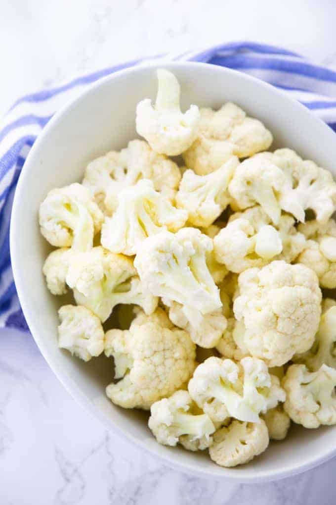 A bowl of cauliflower florets