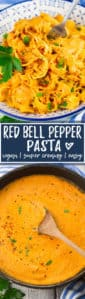 Vegan Red Bell Pepper Pasta