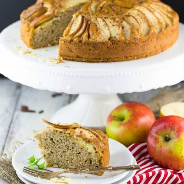 Vegan Apple Cake with Almonds