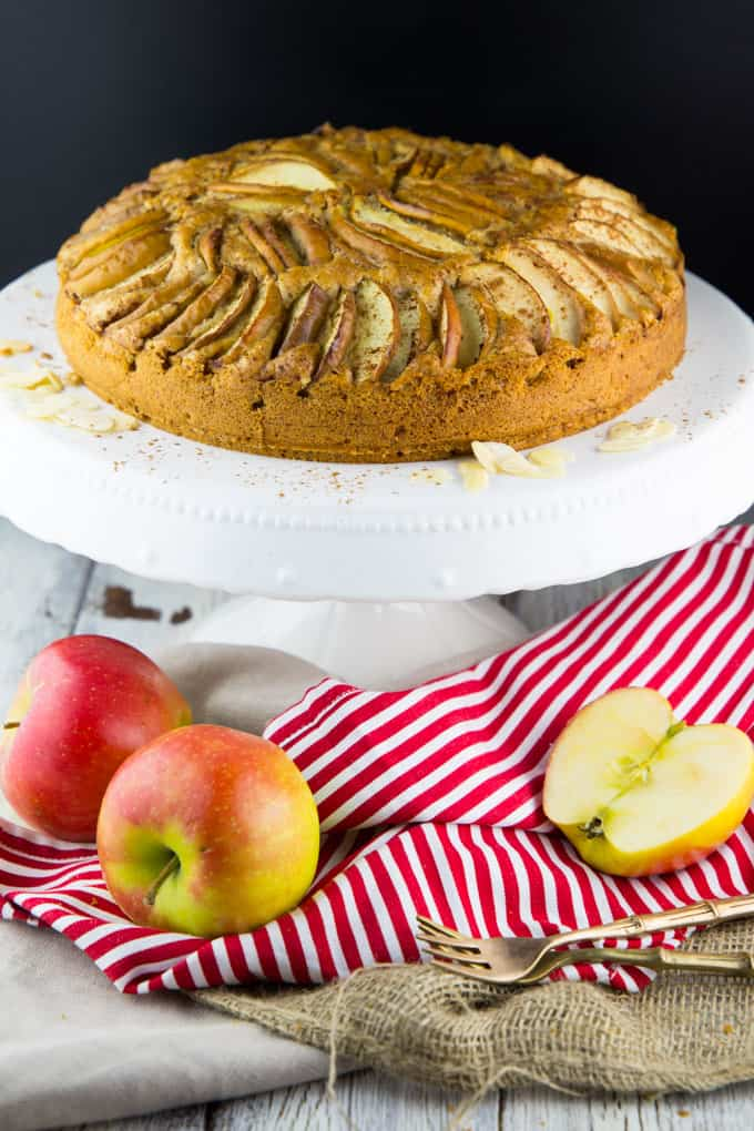 Vegan Apple Cake with Almonds