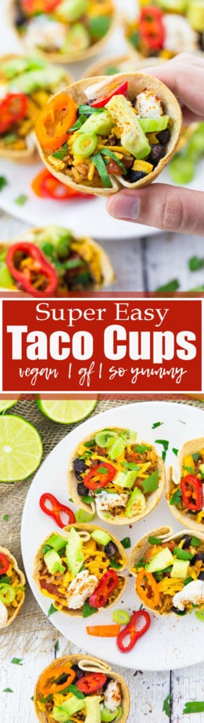Taco Cups with Black Beans and Avocado