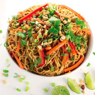 "Vegan Peanut Noodles & ""Fuss-Free Vegan"" Cookbook Review"