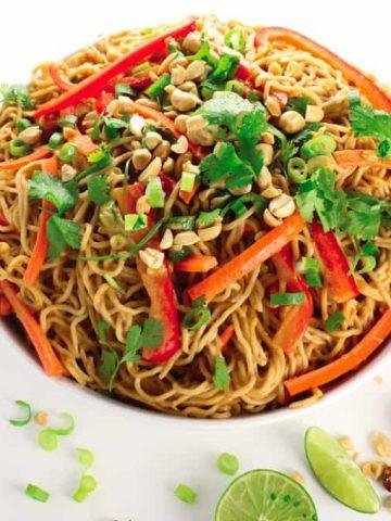 Vegan Peanut Noodles & Fuss-Free Vegan Cookbook Review