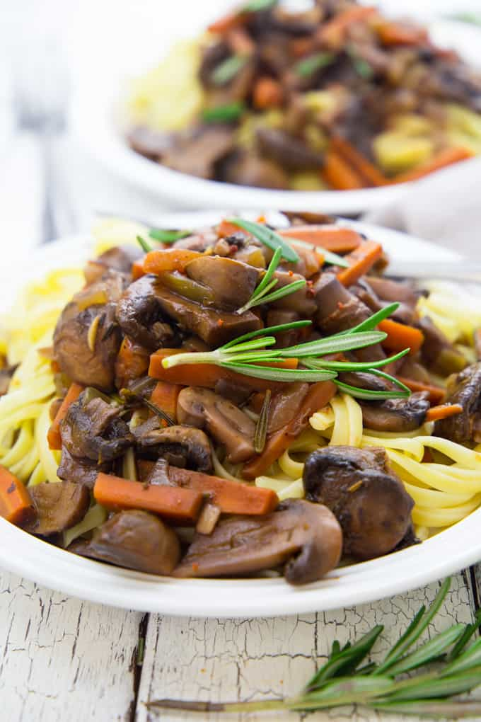 Mushroom Bourguignon - Super Easy Recipe!