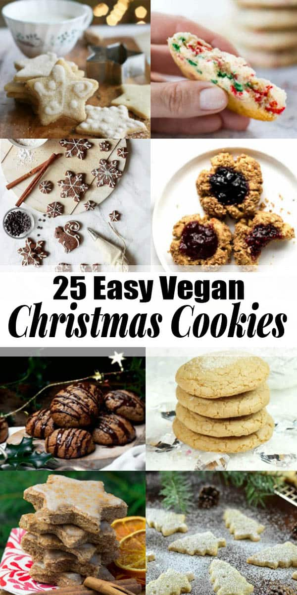 If you're looking for vegan Christmas cookies this is the right place for you! All of these recipes are vegan and a lot of them are also gluten-free and low in sugar. Find more vegan Christmas recipes at veganheaven.org! #vegan #christmas #veganrecipes