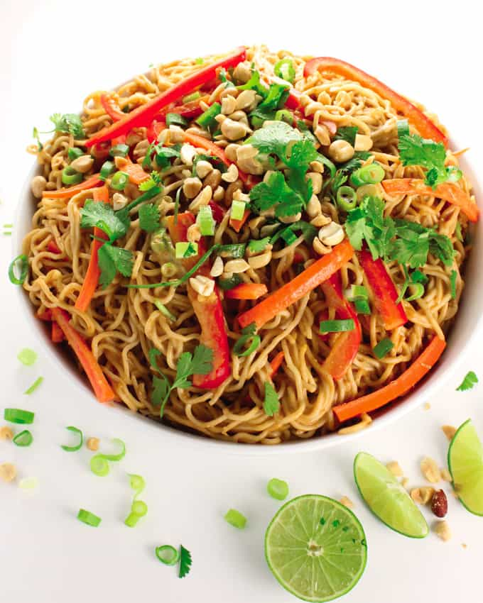 Vegan Peanut Noodles & Fuss-Free Vegan Cookbook