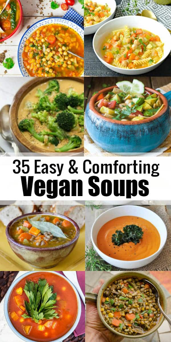 These 30 vegan soup recipes are perfect when you feel like having a warm, hearty, and comforting soup! They're all plant-based, healthy, and really easy to make. Find more vegetarian recipes at veganheaven.org <3