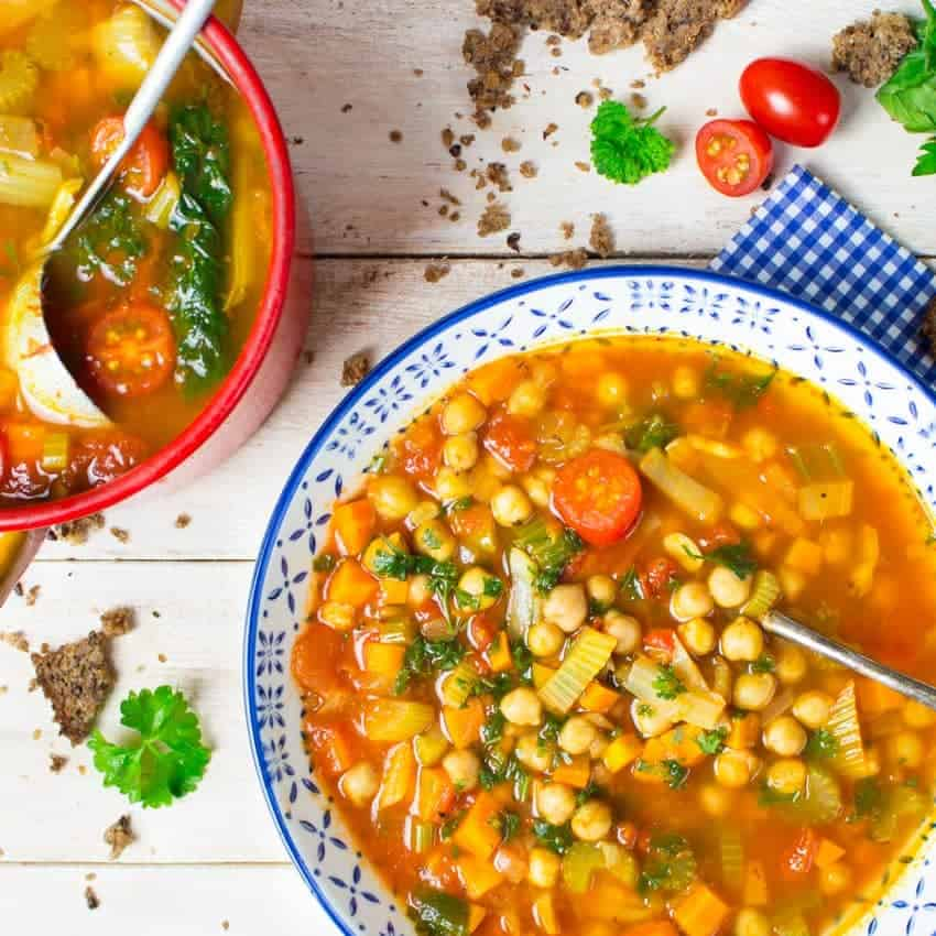 Italian-Vegan-Garbanzo-Bean-Soup