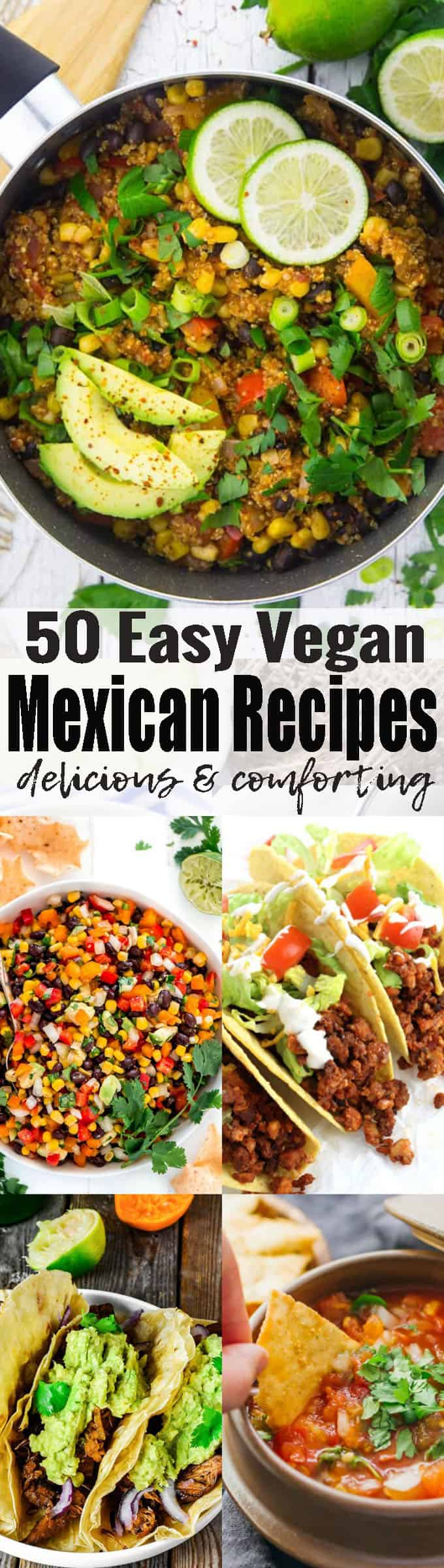 If you like Mexican food, you will love these 38 vegan Mexican recipes! We've got vegan tacos, vegan burritos, vegan enchilada, and so much more! Vegan comfort food at its best! Find more vegan recipes at veganheaven.org <3