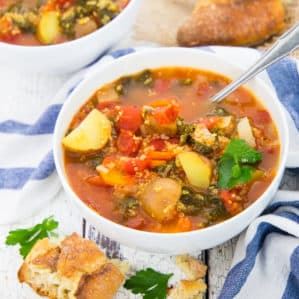 Quinoa Soup with Kale and Potatoes