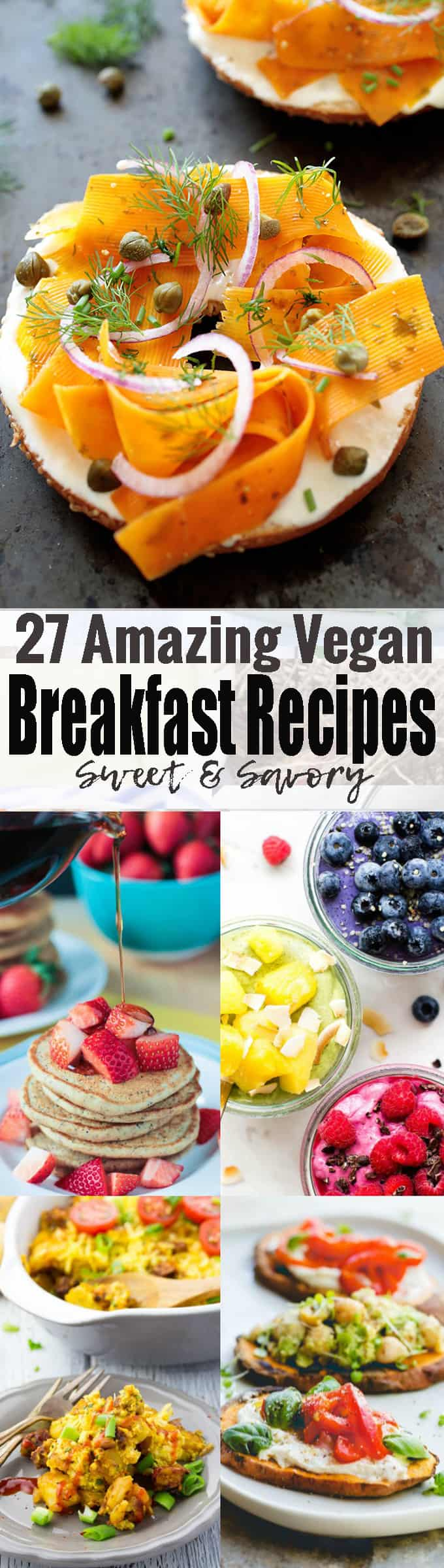 A good breakfast can set the tone for your whole day. So start the day off right with one of these amazing sweet and savory vegan breakfast recipes! <3