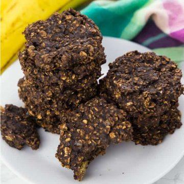 Chocolate Banana Cookies (Vegan, 4 Ingredients)