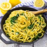 Lemon Spaghetti with Spinach