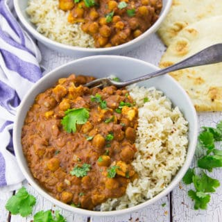 Vegan Butter Chicken with Chickpeas and Cauliflower