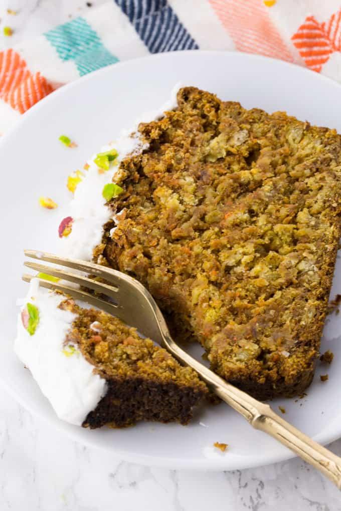 Vegan Carrot Cake with Coconut Cream