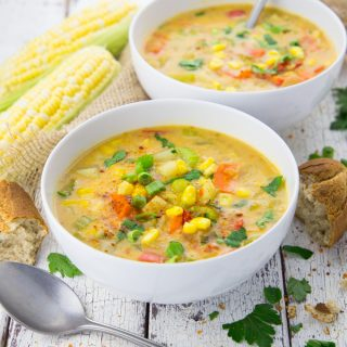 Vegan Corn Chowder with Potatoes