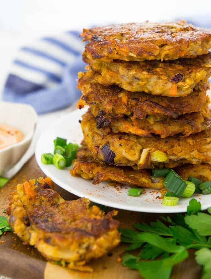 how to make potato and onion fritters