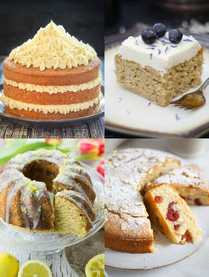 Collage of Vegan Cake Recipes