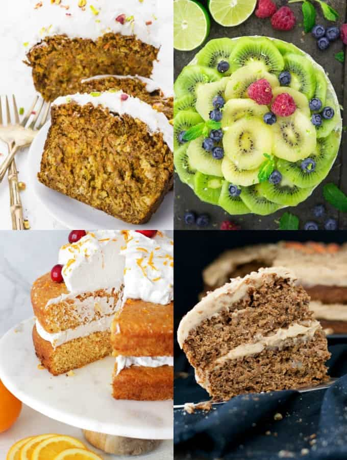 A Collage of Vegan Cake Recipes