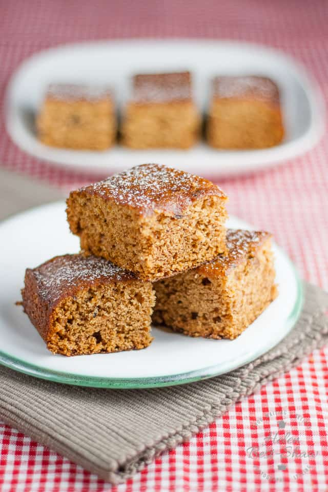 A Stack of Vegan Ginger Cake