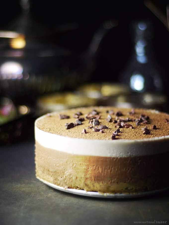 Gluten-Free Vegan Tiramisu with Chocolate on Top