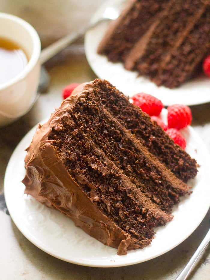 Vegan Cake with Chocolate Mocha Layer