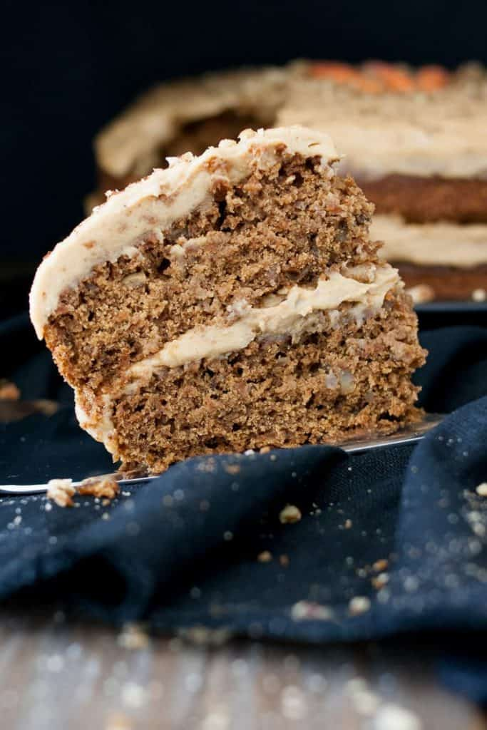 A Piece of Peanut Butter Carrot Cake