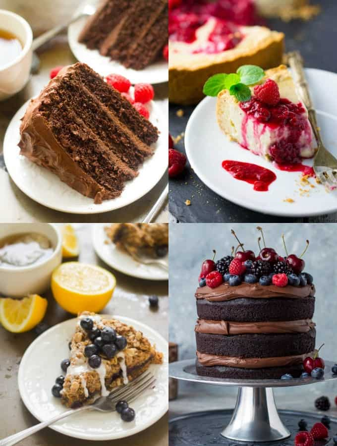 Collage of Vegan Cake Recipes