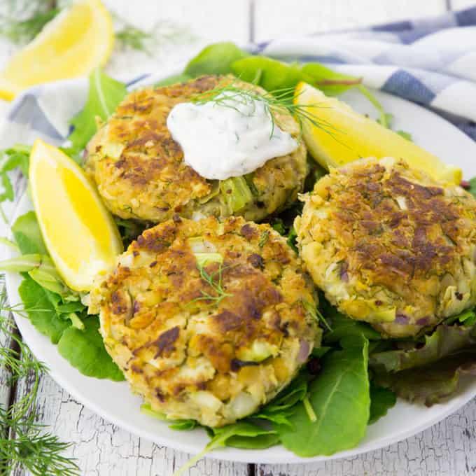 Vegan Crab Cakes Chickpeas