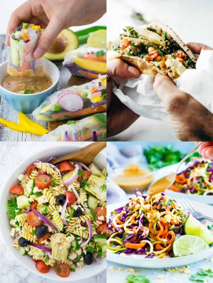 Collage of Vegan Lunch Recipes