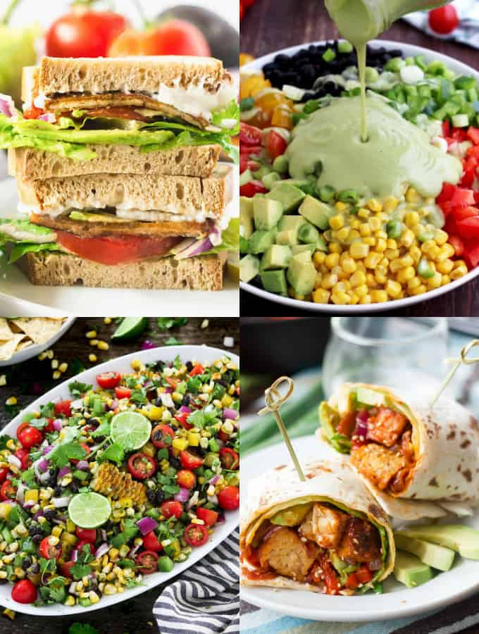 A Collage of Vegan Lunch Recipes