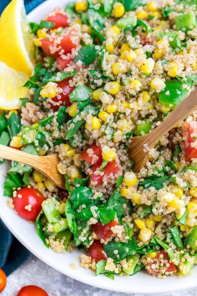 Garden Veggie Quinoa Salad with Salad Cutlery
