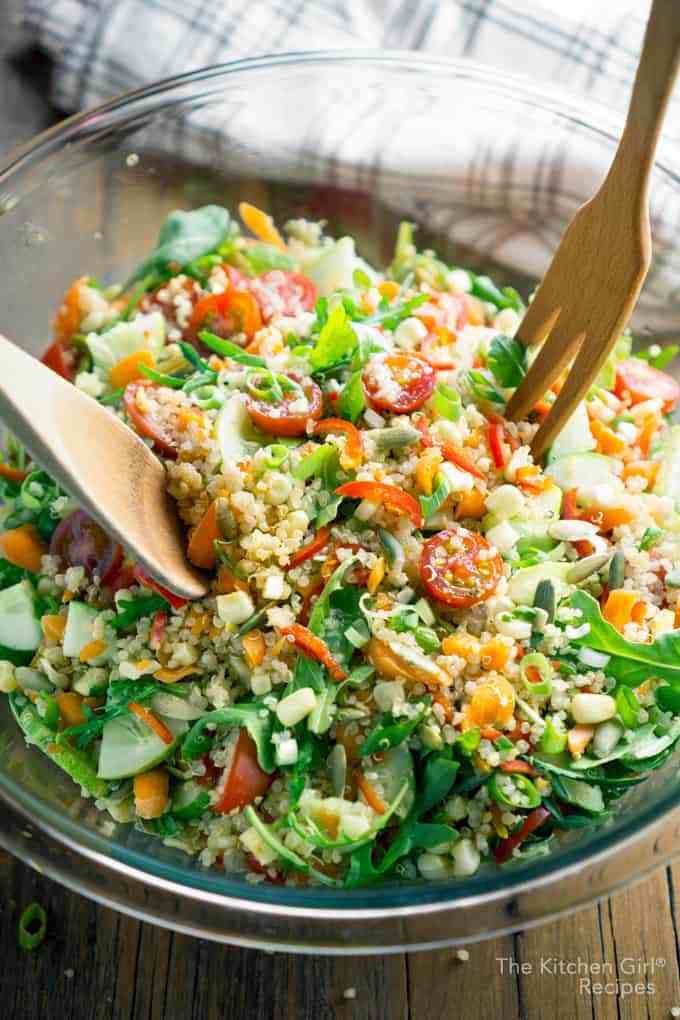 Veggie Quinoa Chopped Salad in a Bowl