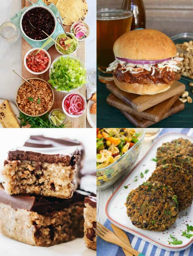 A Collage of Vegan Protein Recipes