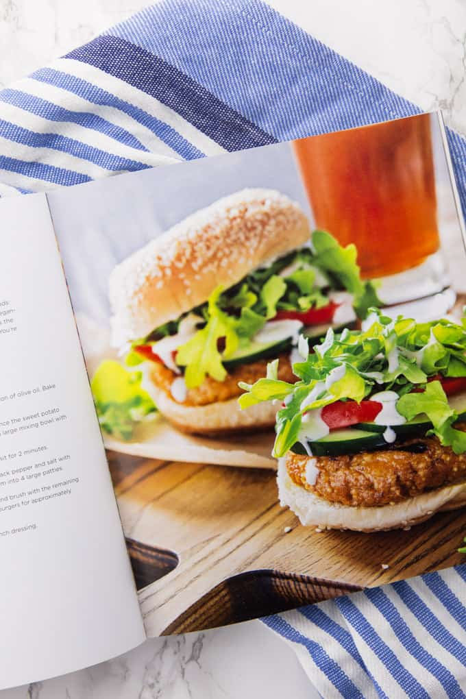 Vegan Burger in a Vegan Cookbook
