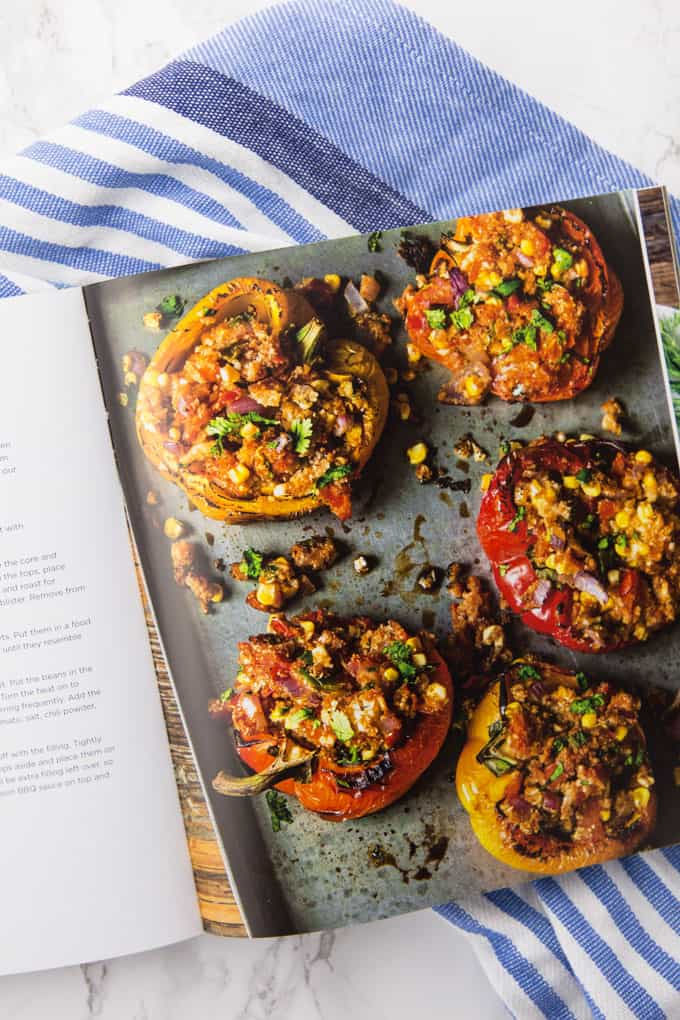 Stuffed Bell Peppers in a Vegan Cookbook