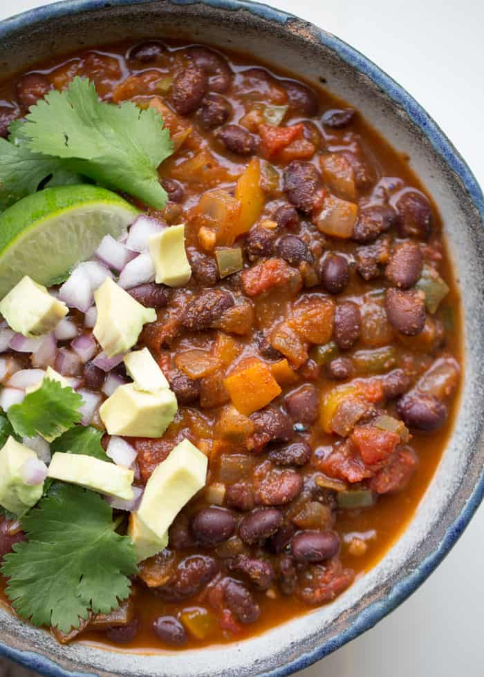 Instant Pot Vegan Black Bean Chili
